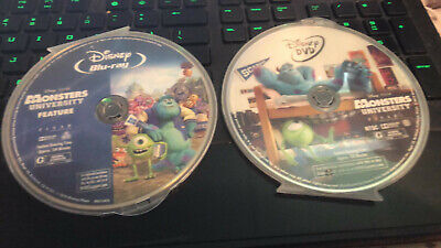 Monsters University Blu-Ray / DVD NO ARTWORK INCLUDED...DISC ONLY!! - Blue Buddies Halloween