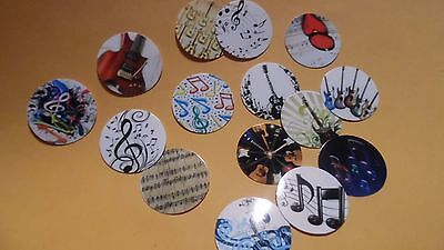 - Pre Cut One Inch Musical Notes Bottle Cap Images! FREE SHIP