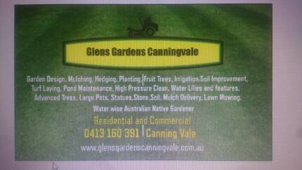 Glen's Gardens Canningvale. ABN and fully insured Canning Vale Canning Area Preview
