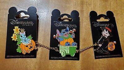 Disney Disneyland Paris DLRP 3 Pin Set Halloween 2019 Lilo Stitch Scrump LE 700