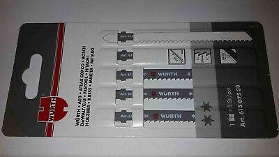 5 Würth Stichsägeblätter Bau - T-Schaft - 61507530 Fiberglas Alu Holz gebraucht kaufen  Deutschland