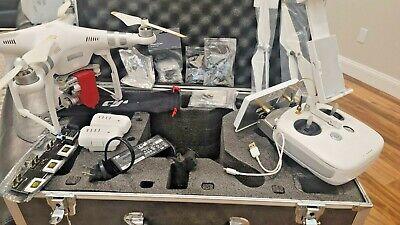 DJI Phantom 3 Advanced Drone, 2 Batteries, Inhuman Case, Itelite Antenna, MUCH MORE