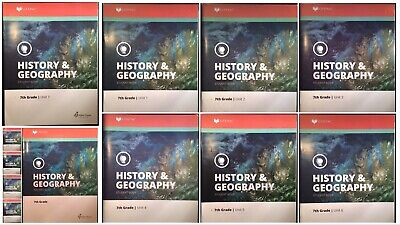 Alpha Omega Lifepac History & Geography Grade 7 Units 1-10 with Teacher's Guide Grade Lifepac History Unit