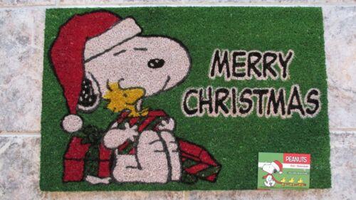 Snoopy Christmas Peanuts Rug 18X28 Mat Doormat New Coir