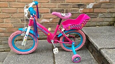 """Girls Hello Kitty Bike with Stabilisers 13"""" - Collection Only from Swansea Area"""