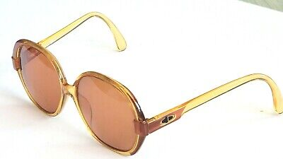 Christian Dior 2214 30 Brown Round RX Sunglasses Frame Only Eyeglasses 57/14