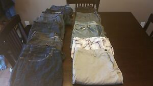 9 pairs of mens jeans + 2 pairs of mens shorts - All for $40