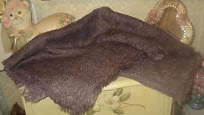 ZARA XXL SCARF SHAWL LAVENDER PURPLE JACQUARD WOOL BLEND 70cmX190cm *INDIA for sale  Shipping to United States