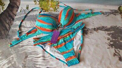 Lascana Push up Bikini Gr 36C Bunt bedruckt NP 59,99€