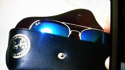 occhiali rayban avietor a goccia blu specchiati con montatura colore oro mai usa