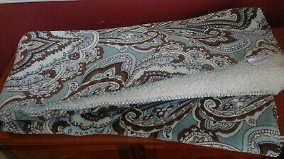 "Better Homes & Gardens Paisley Pattern Sherpa Throw 50"" x 60"", Blue,Brown,Ivory"