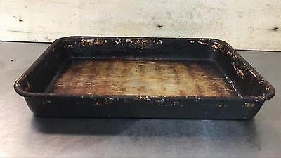 6 Seasoned Bread Stick Pans 10x13inch Baking Pizza Hut Square Dough Pans