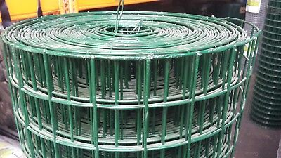 Green PVC Coated Welded Wire Dog Mesh 900 x 50 x 50 x 3.0/2.50mm x 25mtrs