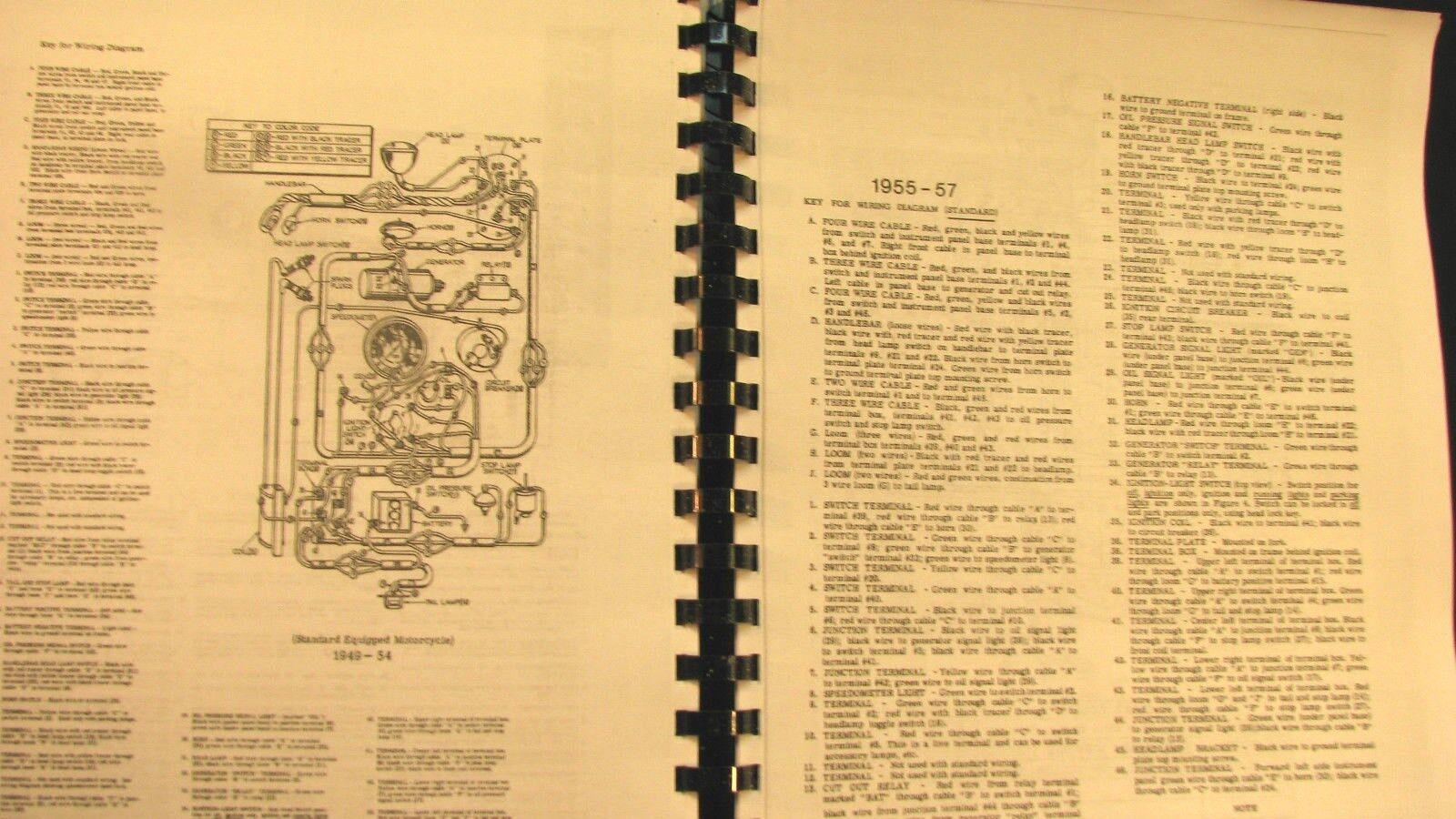 10 of 12 1948-1957 Panhead Harley-Davidson Rigid Service Manual Fully  Illustrated Free Sh