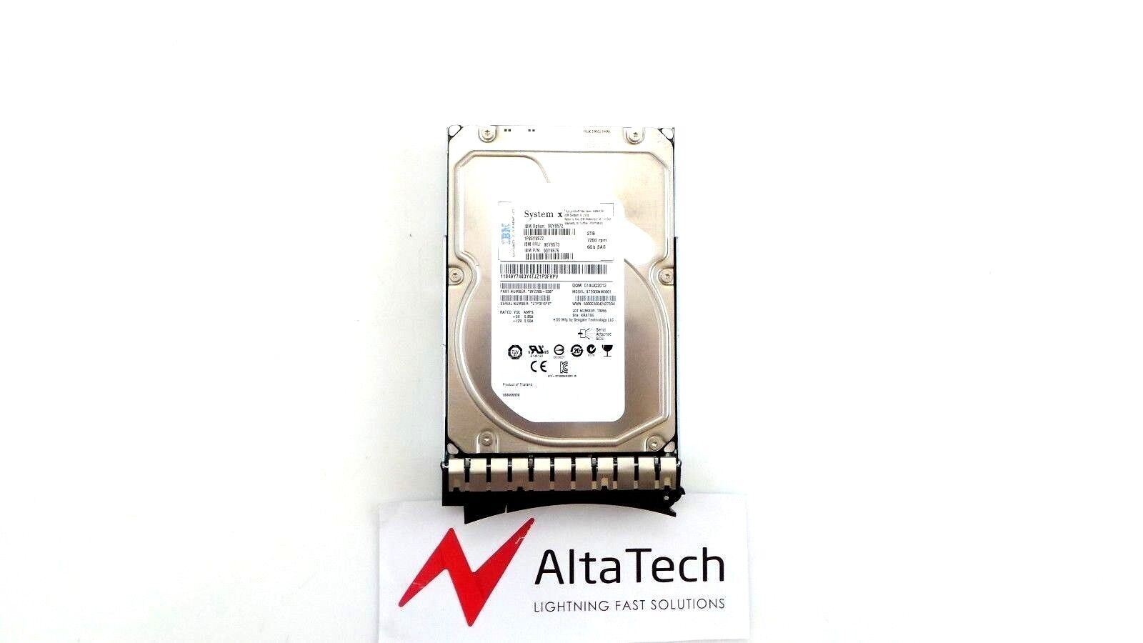 """90Y8572-90Y8576 Free Ship IBM 90Y8573 2TB 7.2K SAS 3.5/"""" 6G HDD Hard Drive"""