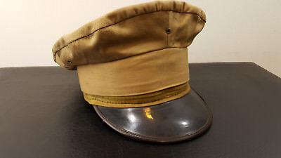 WW2 Era Manchukuo Police Japanese Army Military Officer's Cap