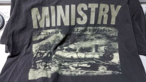 Vintage Rare Ministry T Shirt 1990s XL