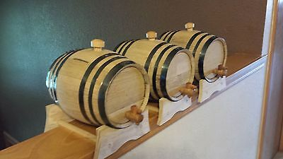 Used, OAK BARRELS (THREE) 3 LITER FOR WHISKEY OR SPIRITS ( FREE ENGRAVING ) for sale  Shipping to Canada