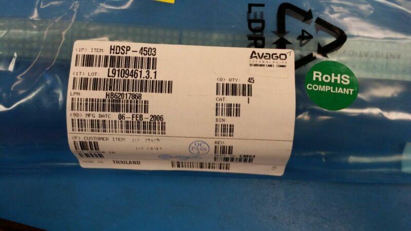 (1 PC) HDSP-4503 SMART/NORMAL 5 X 7 DOT MATRIX LED DISPLAY RED ROHS