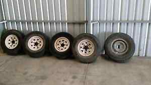 Toyota landcruiser rims and tyres North Plympton West Torrens Area Preview