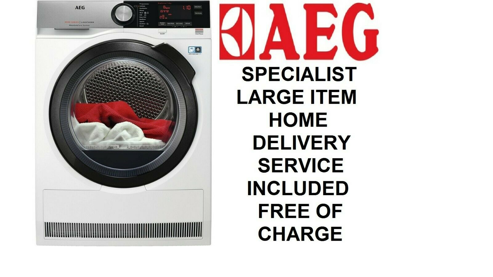 AEG AbsoluteCare T8DSC869C 8kg A+++ Rated Heat Pump Dryer + 5 Year Warranty