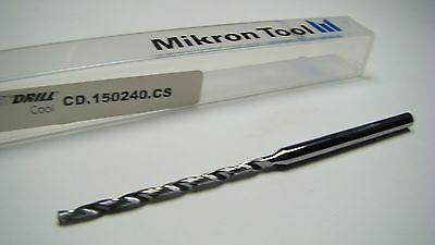 Mikron Crazydrill Carbide Coolant Drill 2.4mm X 40.4mm X 4mm -3000e1987