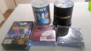 Tech bundle CD-Rs and CD or DVD cases St Clair Penrith Area Preview