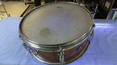Slingerland snare - rare PINK SPARKLE wood shell with original heads and snare