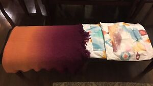 Beautiful ombré blanket and pillow cases