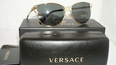 Versace New Sunglasses Gold Gray VE2211 100287 56 140