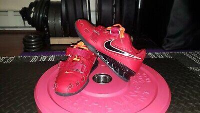 Nike Romaleos 2 - Red / Orange - 7.5 - w/ both insoles