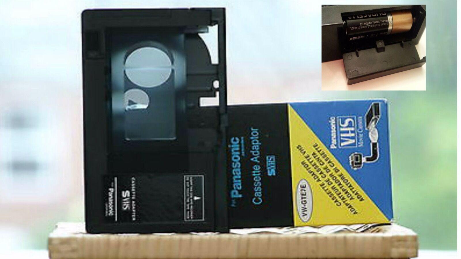 For Panasonic-cassette Adapter Vhs-c-vw-gte7e-battery-ope...