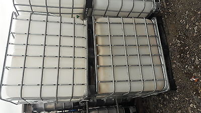 IBC WATER TANK, CONTAINER,1000lt (bio fuel, water, oil, log cages) for sale  Holywell