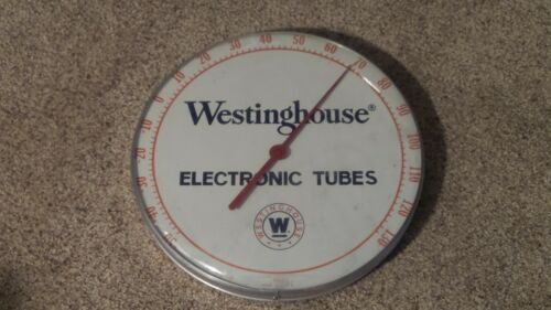 Original Vintage Westinghouse Electronic Tubes Advertising Thermometer Sign