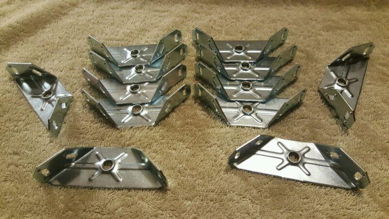 12 - Metal 90 degree Angled Corner Brace Support Brackets 4 x 1 3/8 Silver (28)