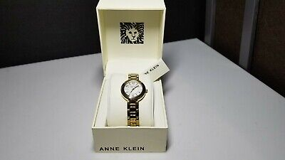 Anne Klein Women's Oyster Gold Tone Watch AK-3070MPGB