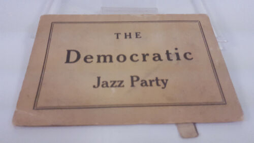 RARE ART DECO THE DEMOCRATIC JAZZ PARTY NAUGHTY MECHANICAL POLITICAL CARD