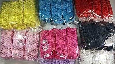 Wholesale Girls Baby Crochet Headband With 1.5 inch Acrylic Choose color (Crochet Girls Headband)