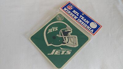 Nos Vintage New York Jets Suction Helmet Car Sign