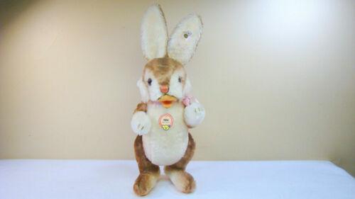 "Steiff Niki Large 16"" Mohair Rabbit 1952 Replica w Tag"