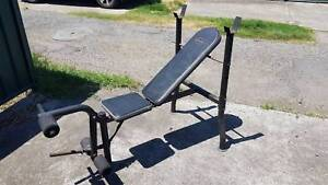 Incline Weight Bench with Leg Raise