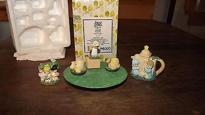 Precious Moments Enesco Nativity Mini Tea Set No 384585 Excellent Uz