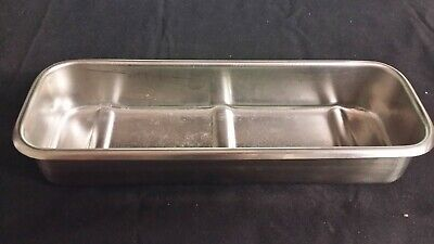 Vollrath 82830 Stainless Instrument Tray Basin Dental Surgical Medical Tattoo Or