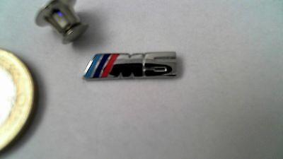 BMW M5 Logo Pin silber