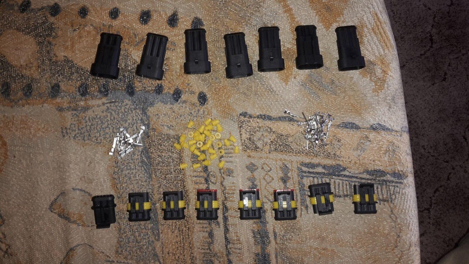 AMP Superseal Set 4-polig Steckverbinder Stecker Elektrik wasserdicht Boot LKW
