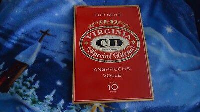Werbeschild Aufsteller Pappe Egulan Zigaretten CD Virginia Special Blend