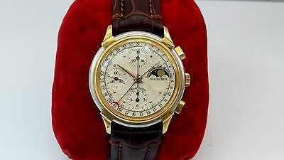 VINTAGE BUCHERER MOON PHASE CHRONOGRAPH CALENDAR 78790 ETA 7750 AUTOMATIC WATCH
