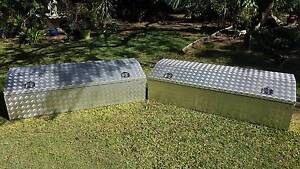 2 Aluminium Checker Plate Chest Style Toolboxes 1800Lx600Wx500H Daisy Hill Logan Area Preview