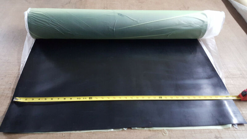 "NEOPRENE RUBBER ROLL 1/8THK X 36"" WIDE x10  ft LONG  60 DURO +/-5"