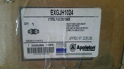 NEW APPLETON ELECTRIC EXGJH1024 STEEL FLEX COUPLING 4""
